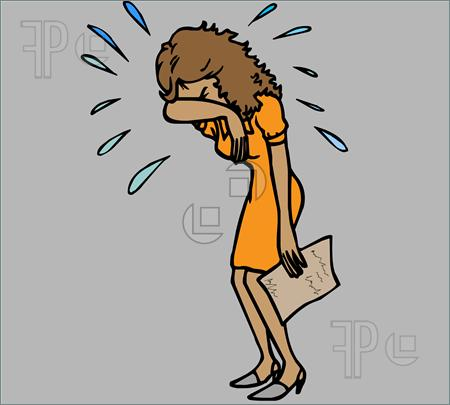 Woman Crying Clipart - Clipart Suggest