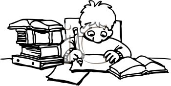 Student Doing Homework Clipart - Clipart Kid