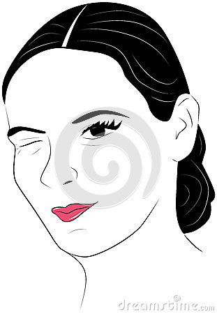 34 Girl Eye Wink Stock Illustrations Vectors   Clipart   Dreamstime