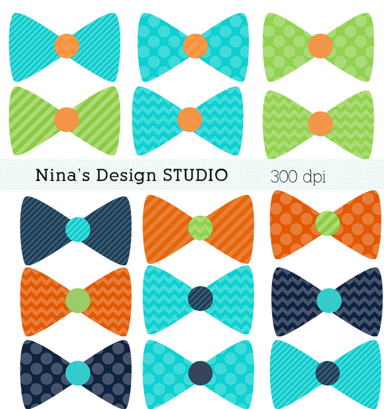 50  Sale Instant Download 15 Bow Tie Clipart By Ninasdesignstudio