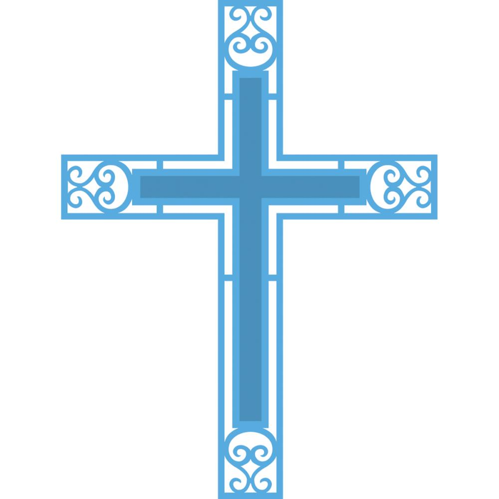 Blue Christening Cross Free Cliparts That You Can Download To You