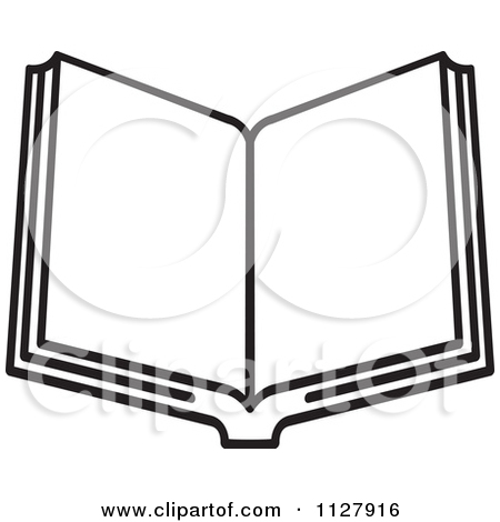 Books Clipart Black And White 1127916 Clipart Of A Black And White