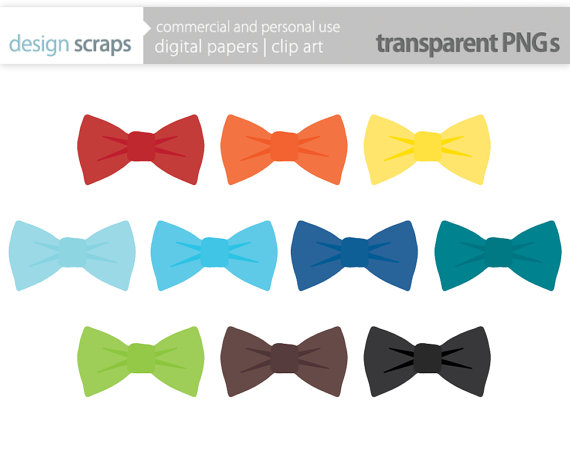 Bow Tie Clip Art Graphics Baby Boy Ties Digital Clipart Commercial