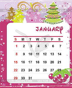 Calendar January 2012 Vector Clip Art #jQKq2R - Clipart Kid