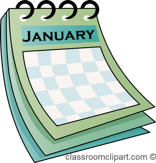 Clip Art Calendar January : January calendar clipart suggest