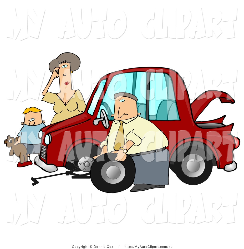 Car With Flat Tire Clip Art Car Pictures