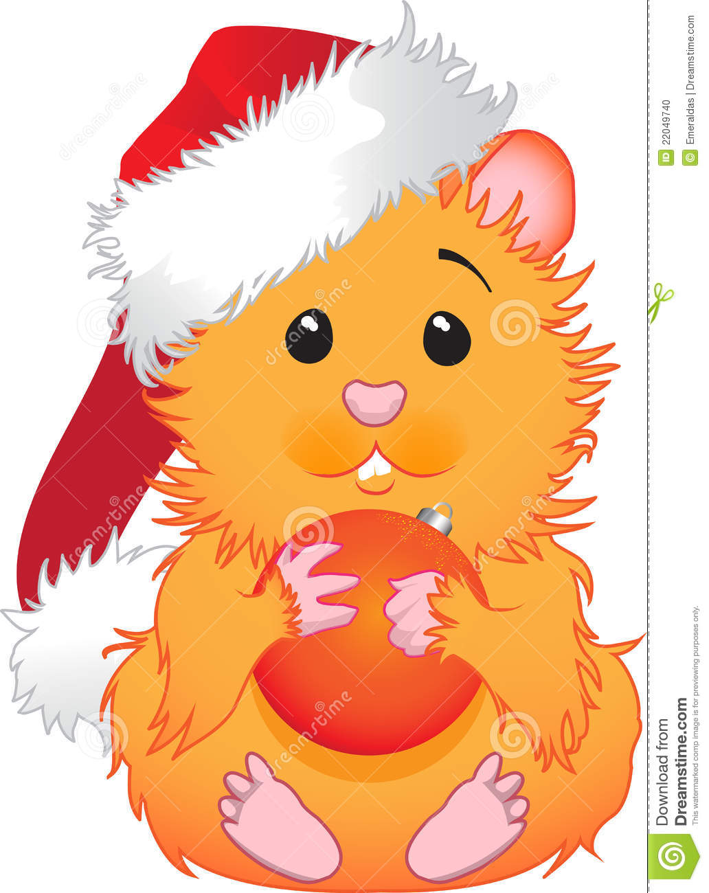 Christmas Hamster Stock Photo   Image  22049740