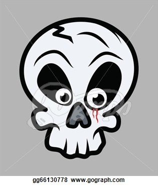 Clip Art   Blood In Innocent Skull Eye  Stock Illustration Gg66130778