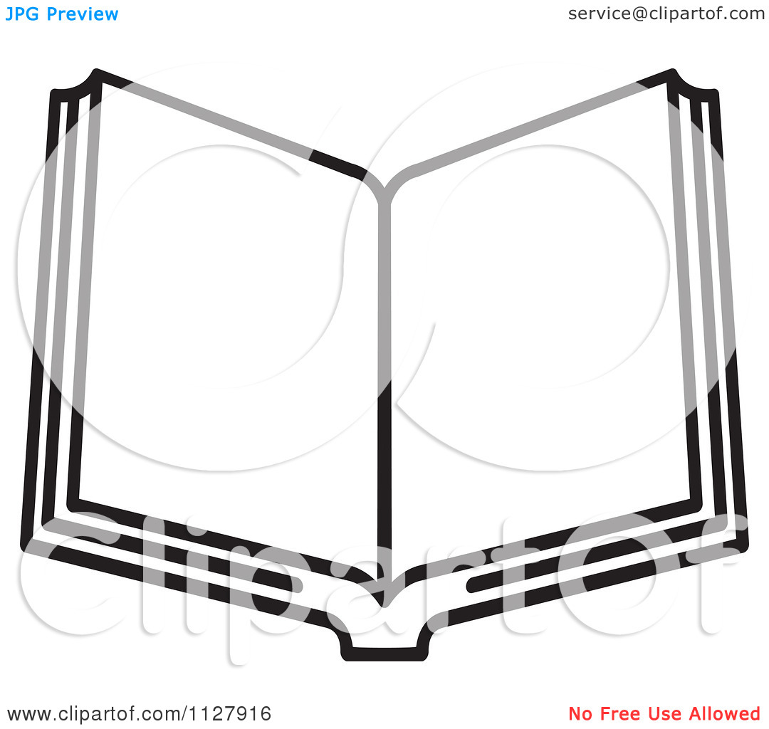 Clipart Black And White Clipart Of A Black And White Open Book