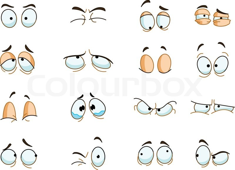 Eyes Expressions Set   Vector   Colourbox