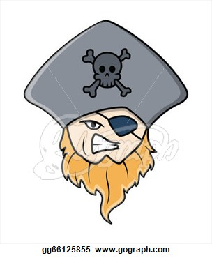 Face With Eye Patch And Hat Vector Illustration  Clip Art Gg66125855