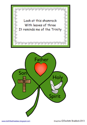 Faith Filled Freebies  Free St  Patrick Clip Art And Craft From