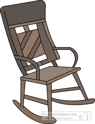 Furniture   Rocking Chair Furniture 08a   Classroom Clipart