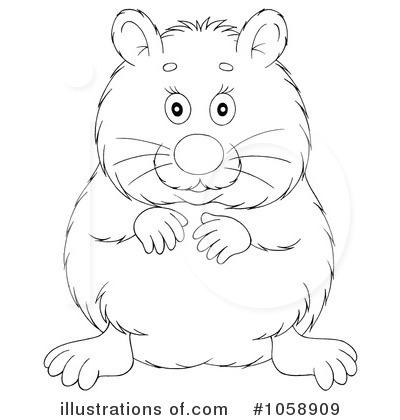 Hamster Clipart  1058909 By Alex Bannykh   Royalty Free  Rf  Stock