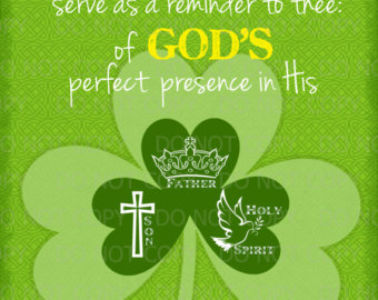 Holy Trinity Shamrock Coloring Page For Pinterest