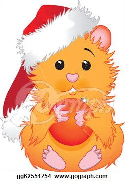 Illustration   Christmas Hamster  Stock Clip Art Gg62551254   Gograph