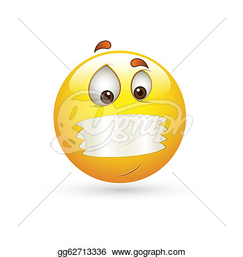 Illustration   Secret Smiley Emoticons Face Vector  Clipart Gg62713336