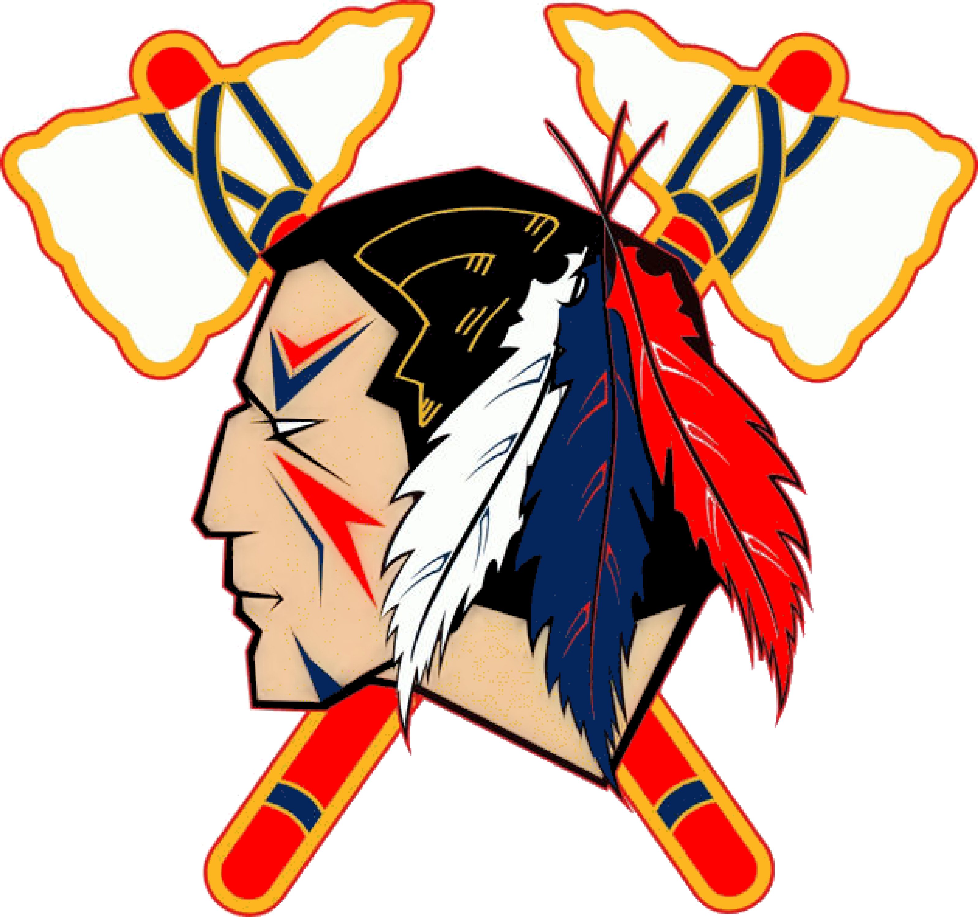 Indian Head Logo Clip Art Indians Tomahawk Image