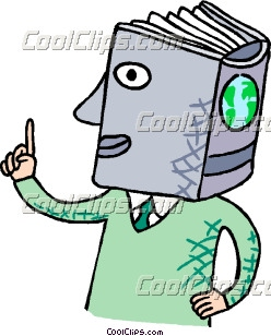 Knowledgeable Person With Encyclopedia Clip Art