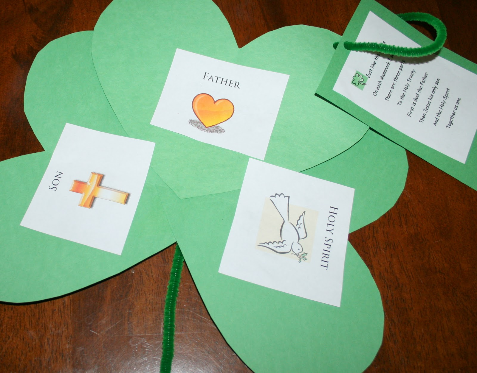 Letters To My Daughters  St  Patrick S Day Craft  Shamrock Trinity