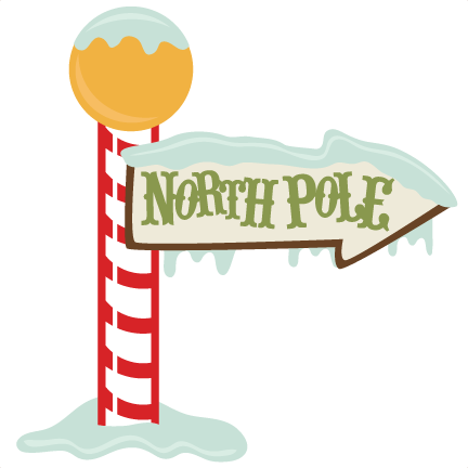 North Pole Sign Svg Cutting File Christmas Svg Files Christmas Svg Cut
