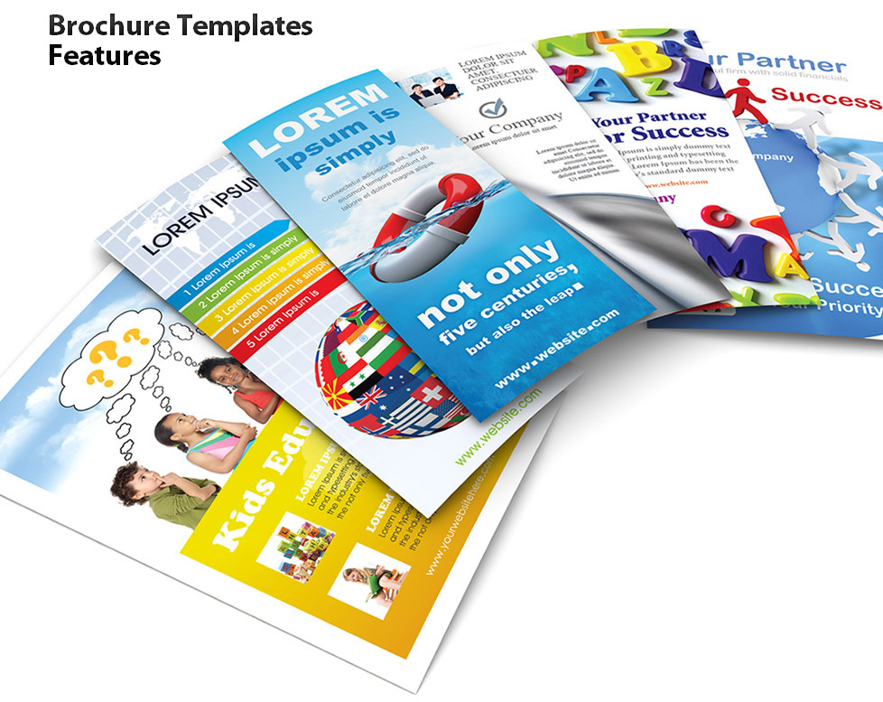 Pamphlet Clipart Brochure Templates Features