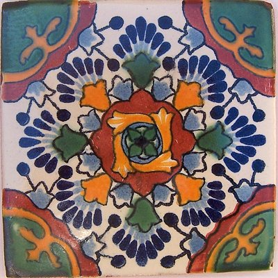 Pin Talavera Tiles Mexican Folk Art Frida Kahlo Poster Painting Print