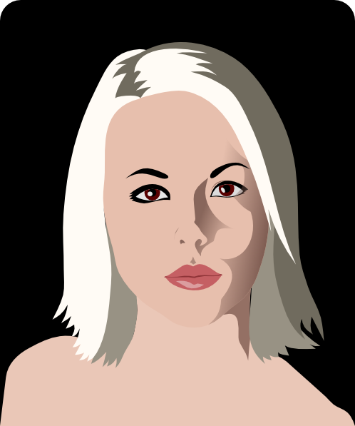 Portrait Of A Woman Clip Art At Clker Com   Vector Clip Art Online