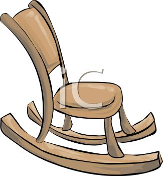 Rocking Chair Clipart Black And White   Clipart Panda   Free Clipart