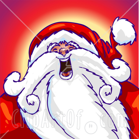 Royalty Free Christmas Clipart Picture Of St Nicholas Laughing And