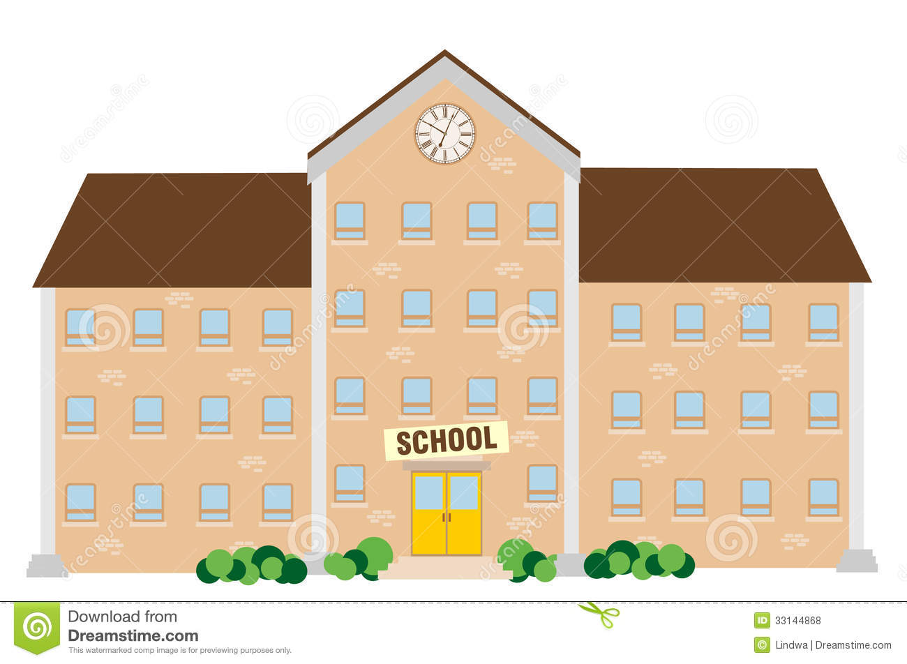 School Building Illustration On White Background Mr No Pr No 3 913 6