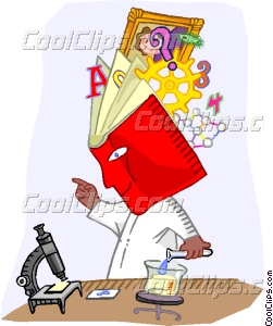 Scientist With An Encyclopedia Vector Clip Art
