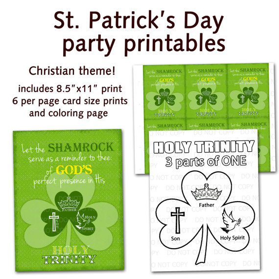 St  Patrick S Day Christian Religious Party Bundle   Shamrock Holy