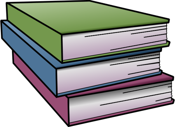 Straighten Books   Vector Clip Art