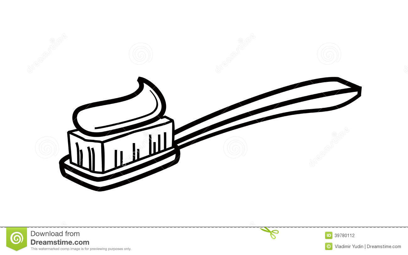 toothbrush clipart black and white - photo #4