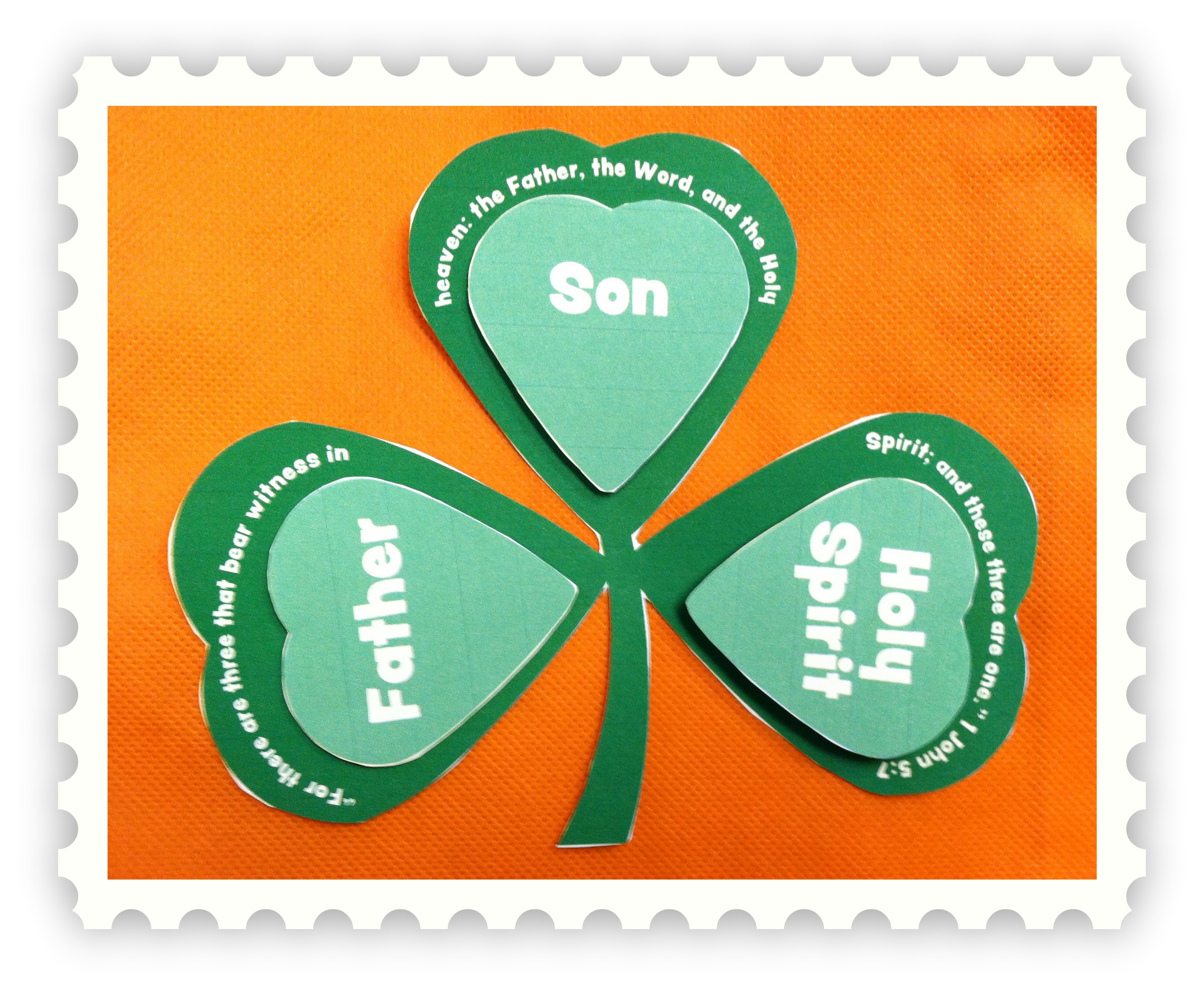 Trinity  So Teach About St  Patrick And God By Using This Shamrock To