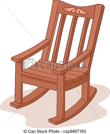 Vectors Of Rocking Chair   Illustration Of A Rocking Chair Csp9457163