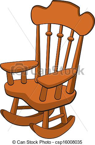 Vectors Of Rocking Chair   Vector Illustration Of A Rocking Chair