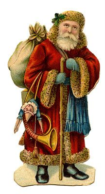 Victorian Christmas Clip Art   Old World Santa   The Graphics Fairy