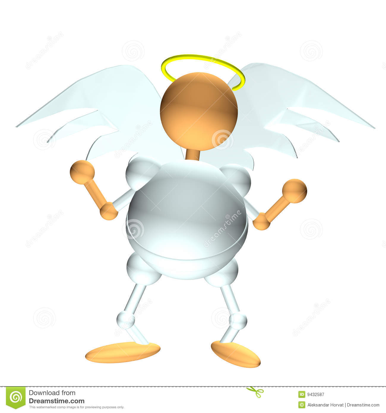 Angel Figurine Clipart Computer Generated 3d Icon Of Angel With Wings