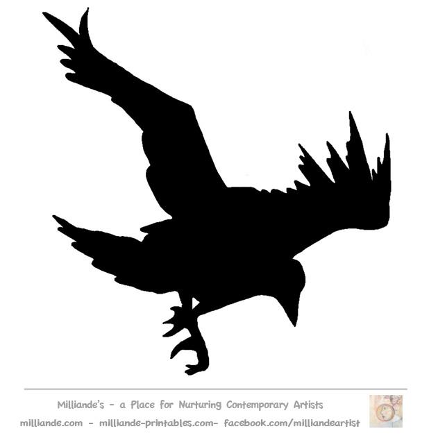 flying bird template printable - flying bird silhouette stencils