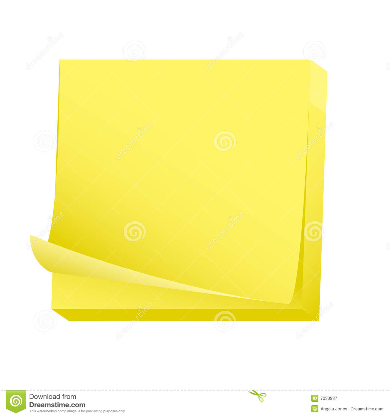 Blank Post It Note Pad  Please Check My Portfolio For More Stationary