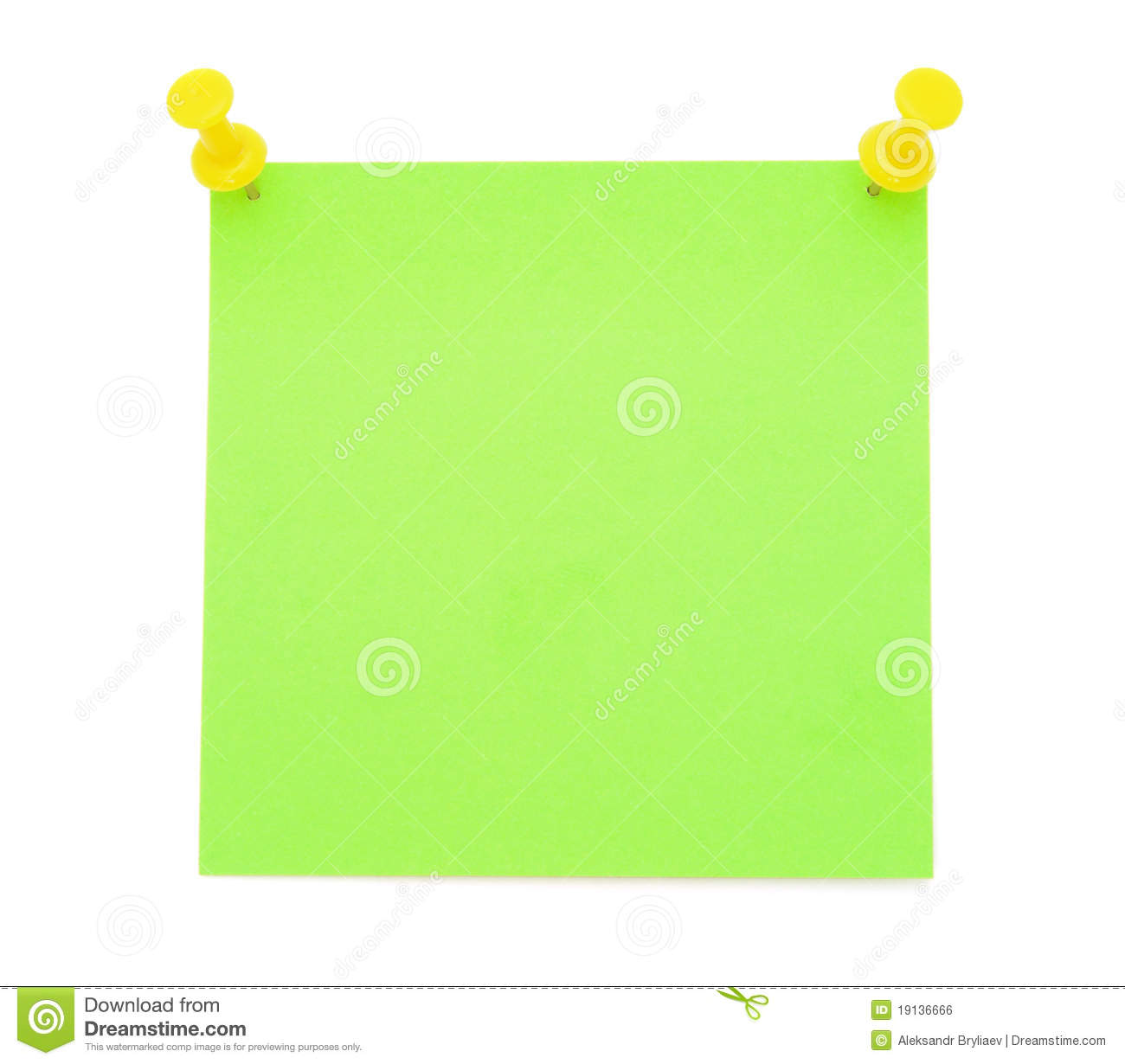 Blank Post It Notes Clip Art Blank Green Post It Note With