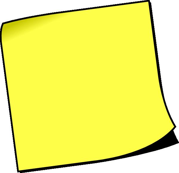 Blank Sticky Note Clip Art At Clker Com   Vector Clip Art Online