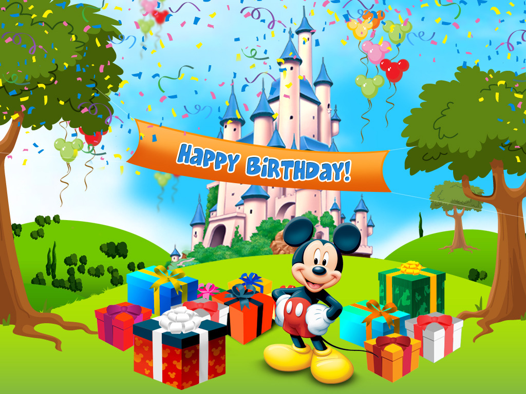 Happy Birthday Mickey Mouse Clipart - Clipart Kid