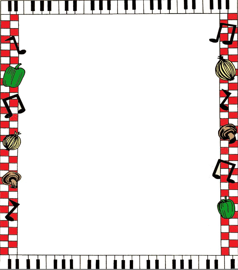 Food Borders Clipart -...