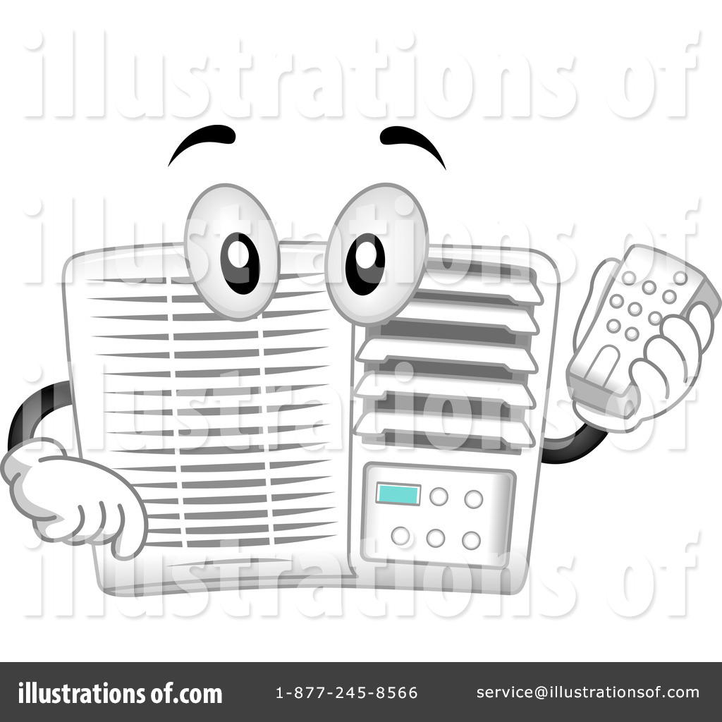 Royalty Free Air Conditioner Clipart Illustration Bnp Design