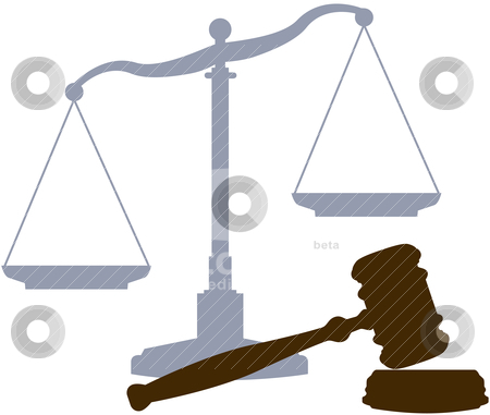 Symbols Stock Vector Clipart Scales And Gavel As Symbols Of The Law