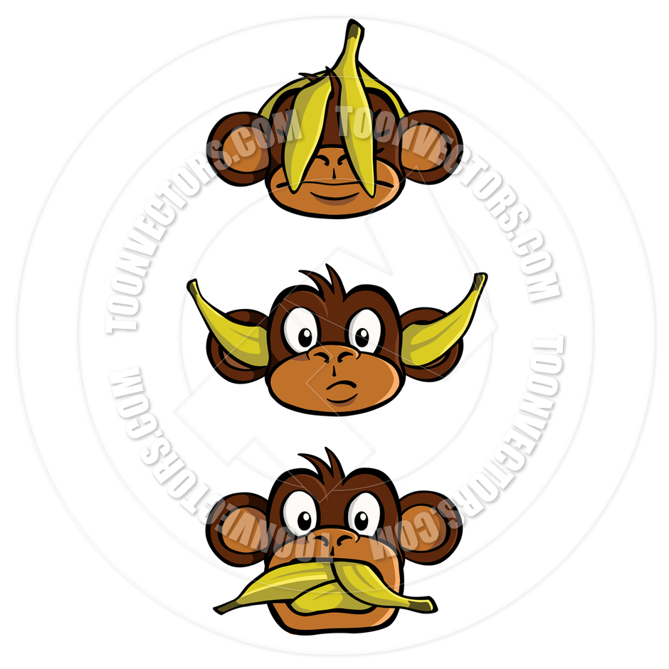 Three Wise Monkeys Clipart   Free Clip Art Images