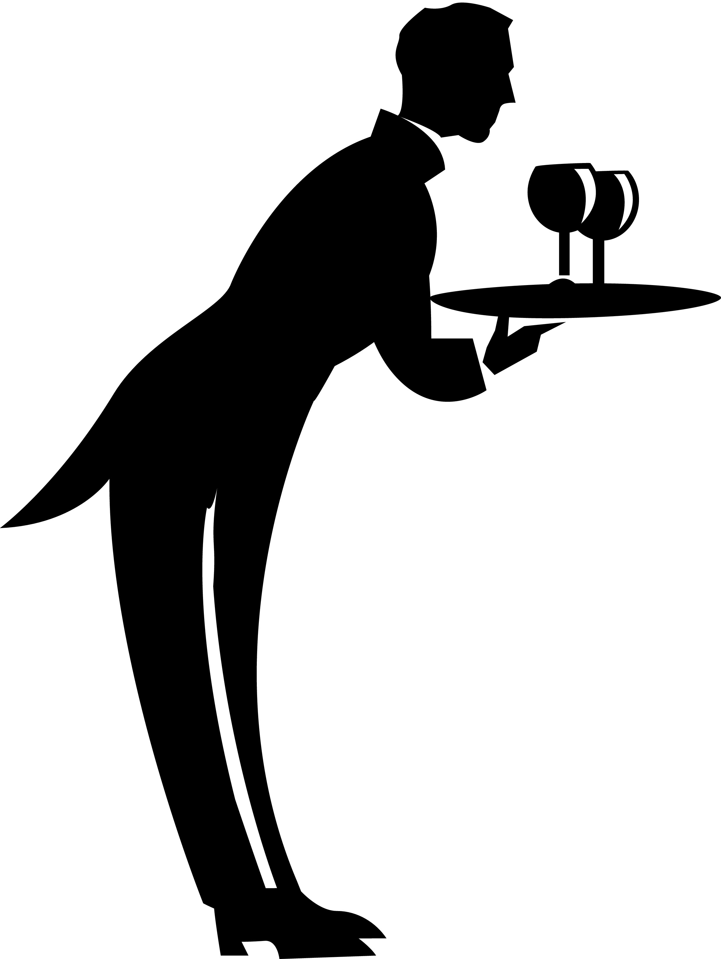 Waiter Waitress Clipart - Clipart Kid